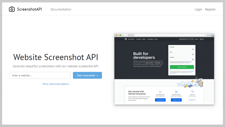 Screenshot API - Website Screenshot Generator
