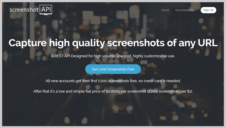 Screenshotapi - Website Screenshot Generator