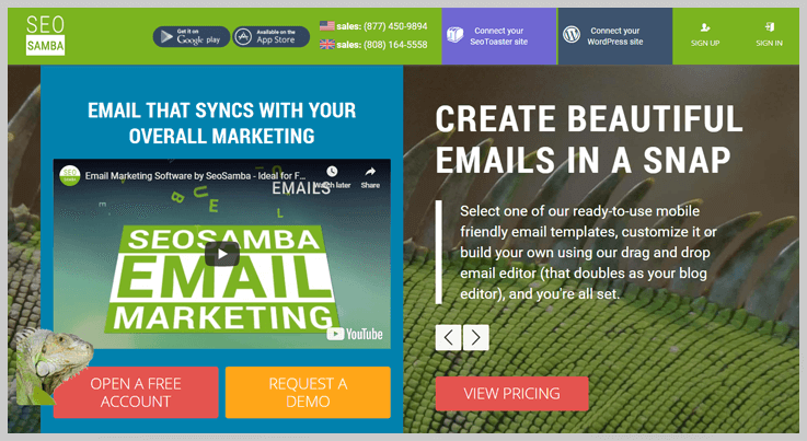 SeoSamba Email Marketing