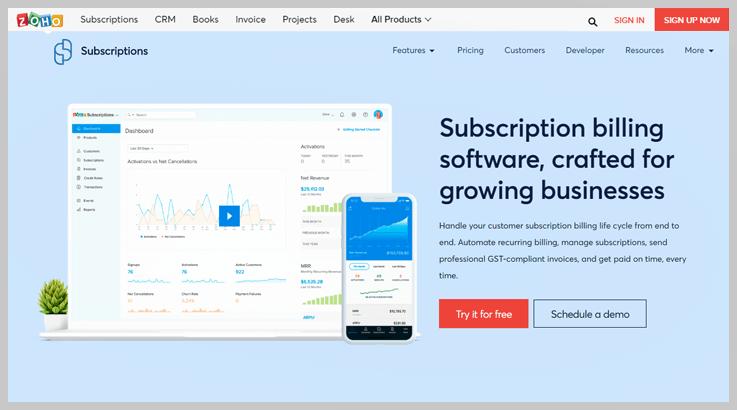 Zoho Subscription Billing