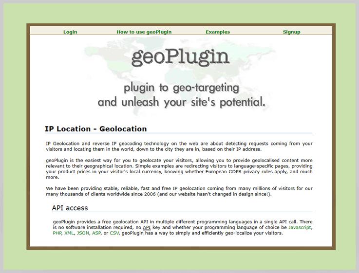 geoPlugin