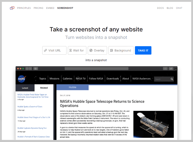 microlink - Url To Screenshot Api