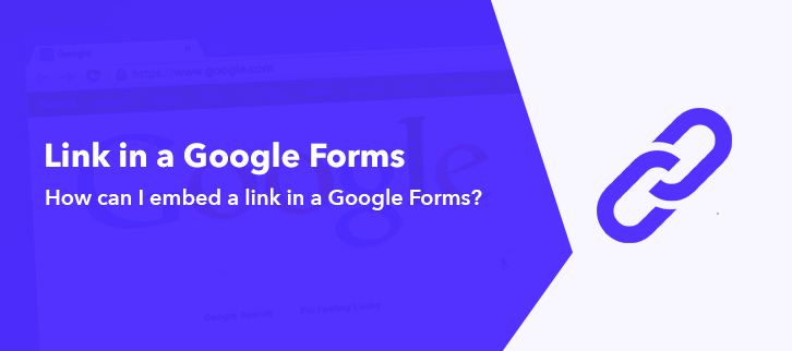 How can I Embed a link in a Google Form