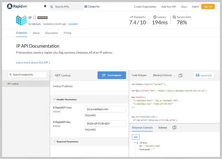 IP API Timezone Convert API