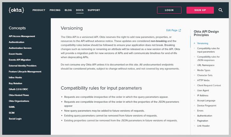 Okta API Design Principles