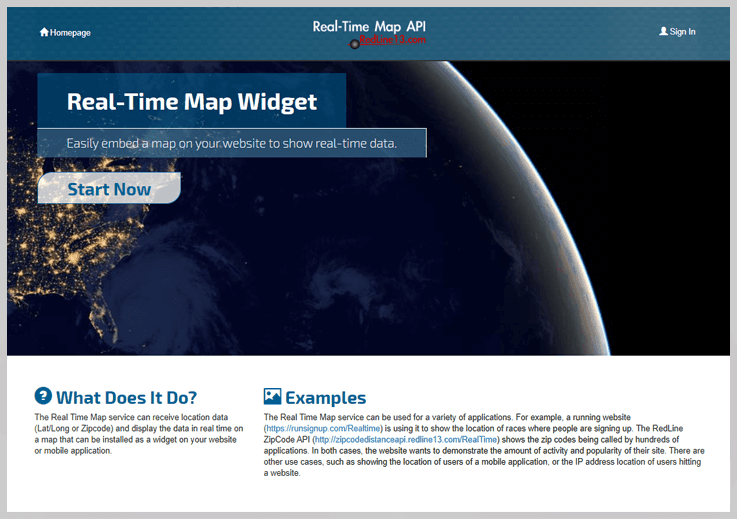 Real-Time Map API