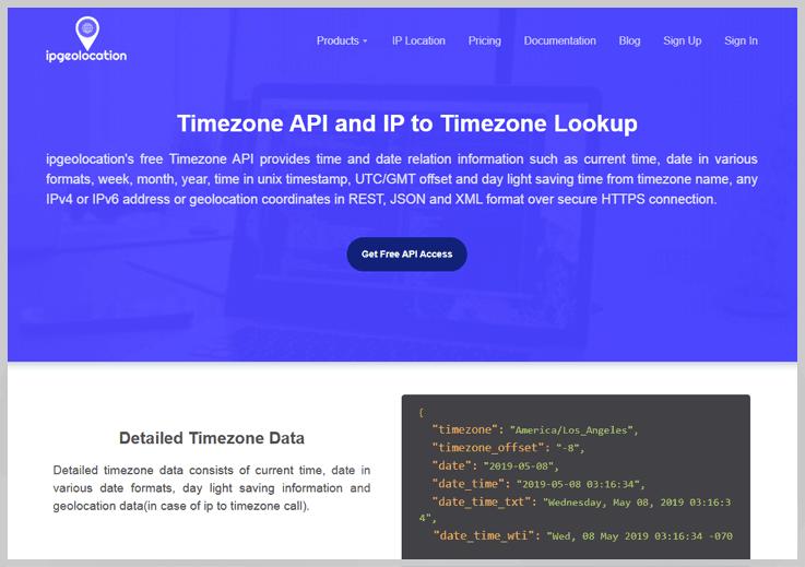 ipgeolocation Timezone API