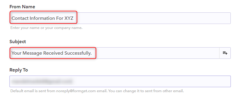 Setting Name, Subject and Reply Email - Pabbly Form Builder