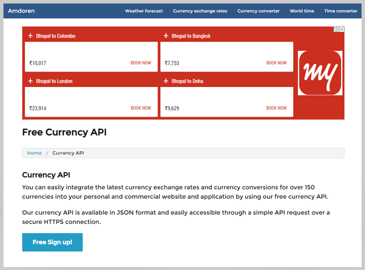 Amdoren Currency Conversion API