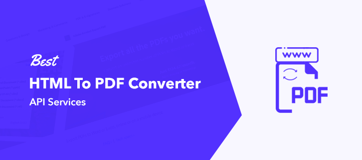 Best HTML to PDF Converter API Services