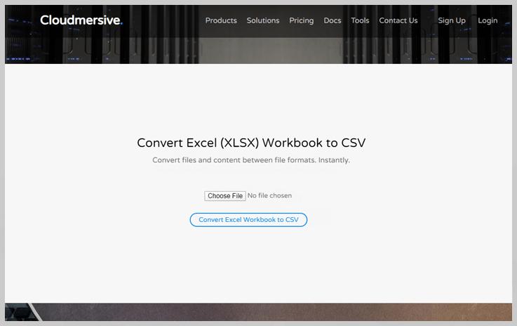 Cloudmersive – CSV Converter API