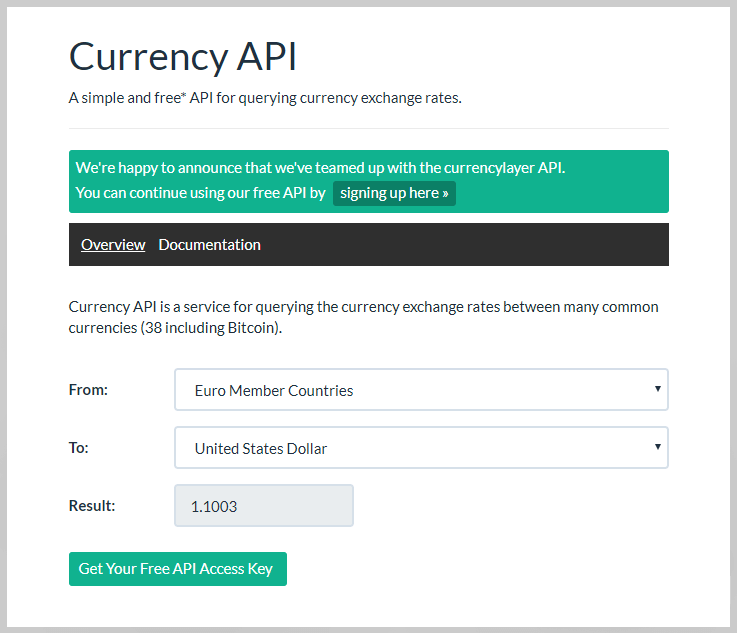 Currency API By Ren