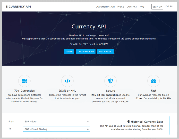Currency API by Natkapral