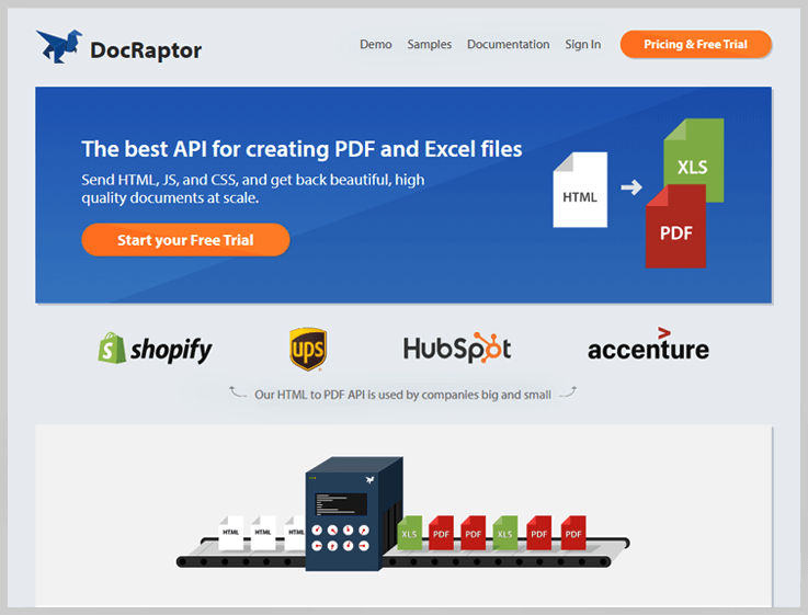 DocRaptor - Export Web To Pdf