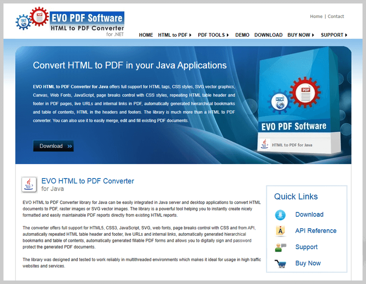 EVO HTML to PDF Converter - Export Web To Pdf