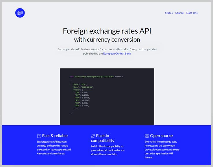 Exchange rates API
