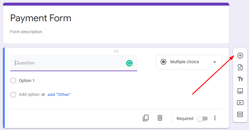 Google Payment Forms