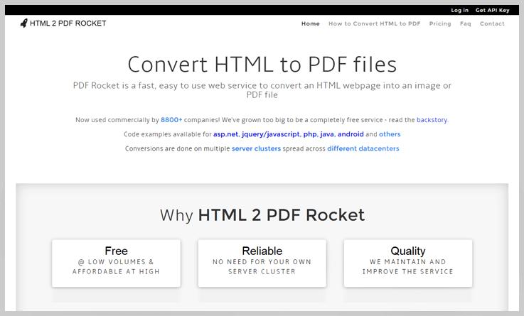 HTML 2 PDF Rocket