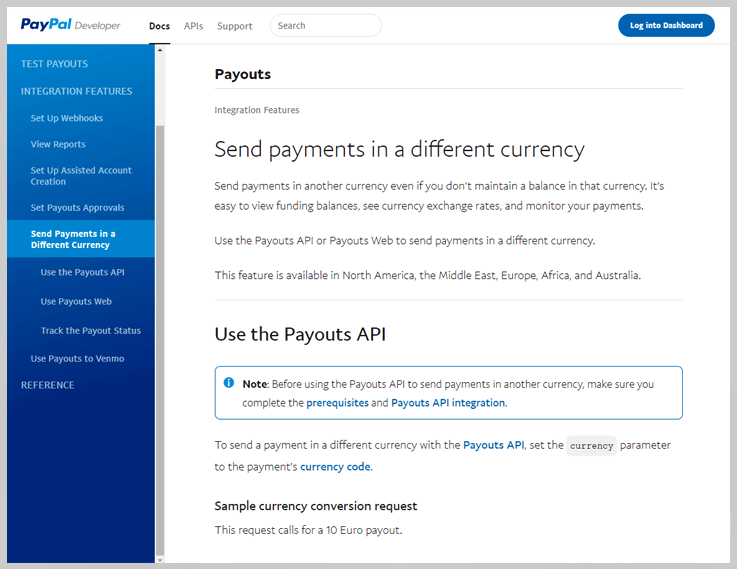 Paypal Currency Conversion API