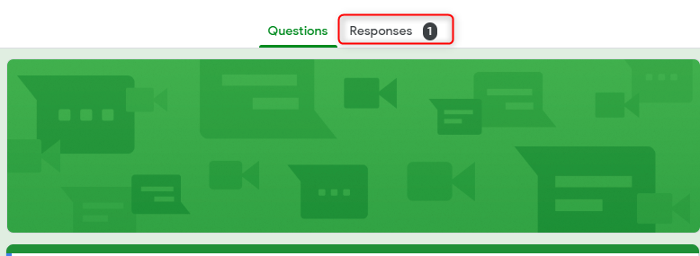 Responses Section-Google Forms