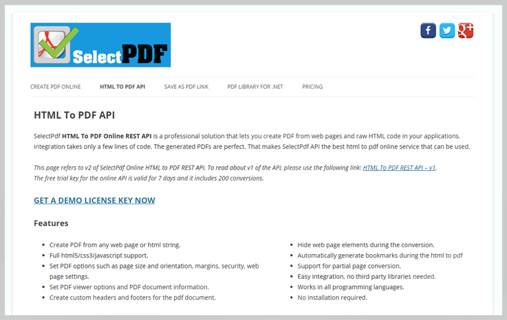 SelectPdf - Export Web To Pdf