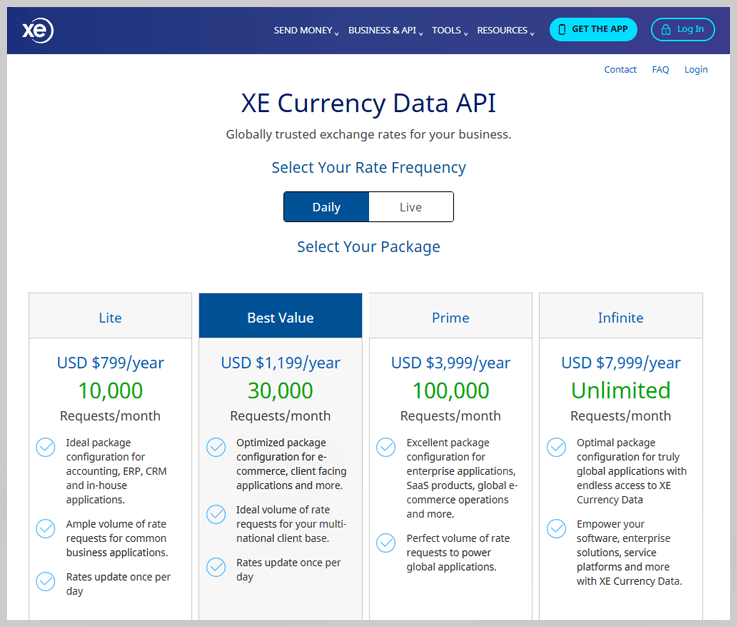 XE Currency Data API