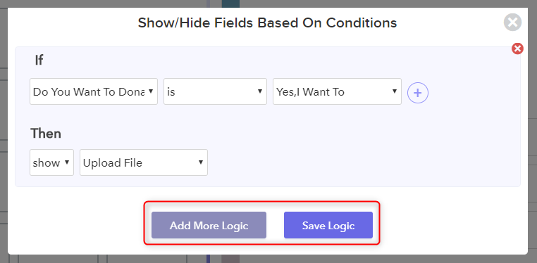 Add More Logic And Save - Pabbly Form Builder