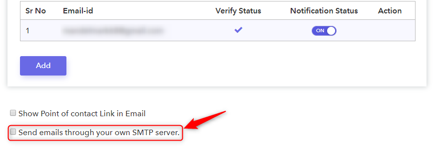 Enable SMTP Server Option - Pabbly Form Builder