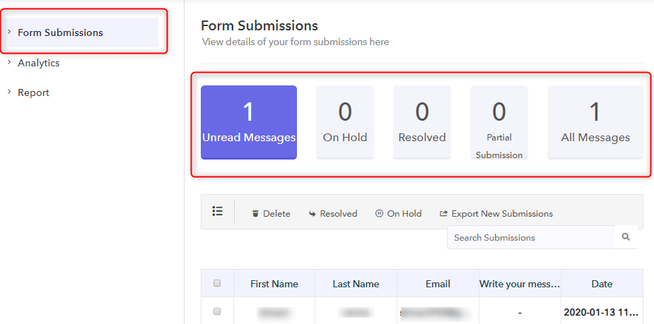 Form Submissions - Pabbly Form Builder