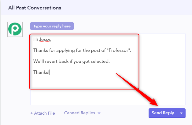 Compose Personalised Message - View And Manage Form Responses