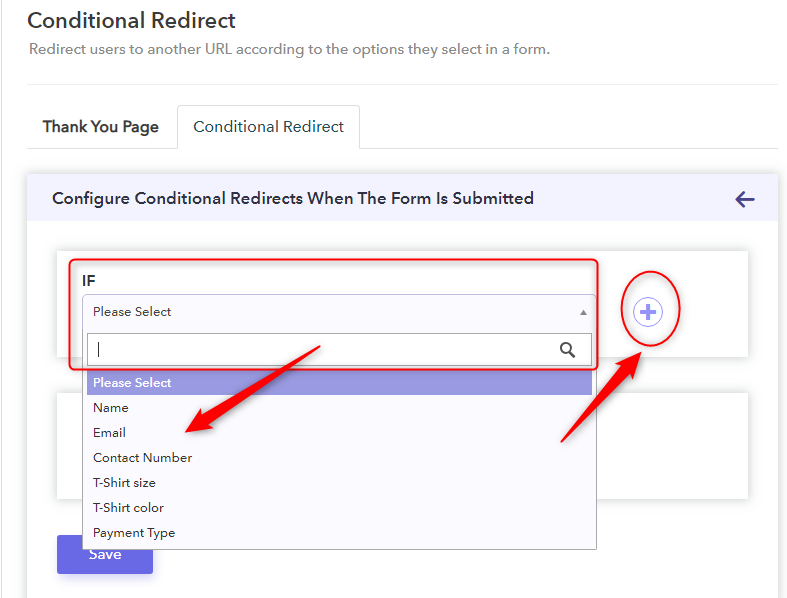 Add Specified Conditions - Google Forms Confirmation Page