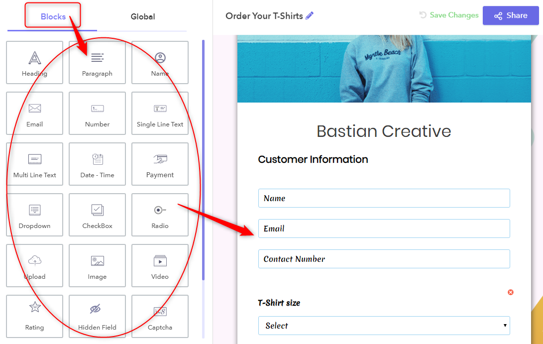 Customize Form Fields - Pabbly Form Builder