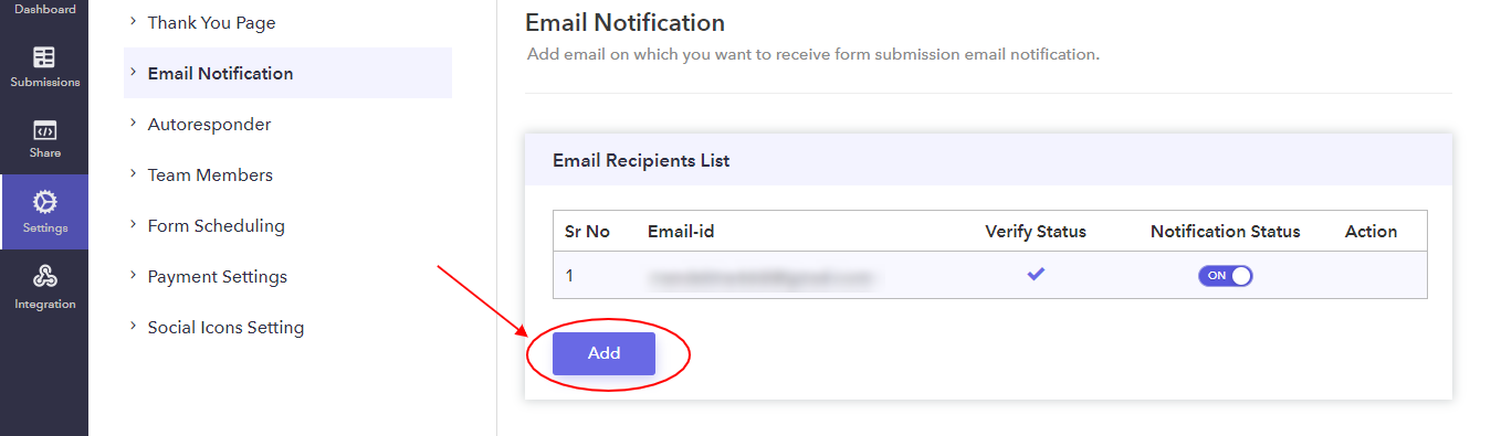Add Multiple Email Address-Pabbly-Form-Builder