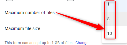 Specify File Number - Google Forms