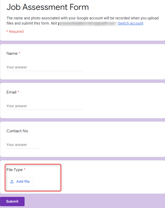 Preview Form - Google Forms