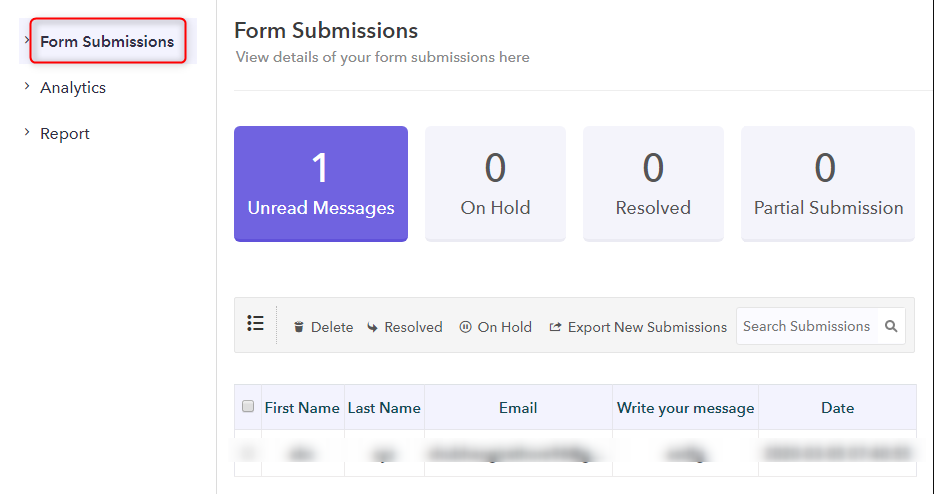Form Submission - Pabbly Form Builder
