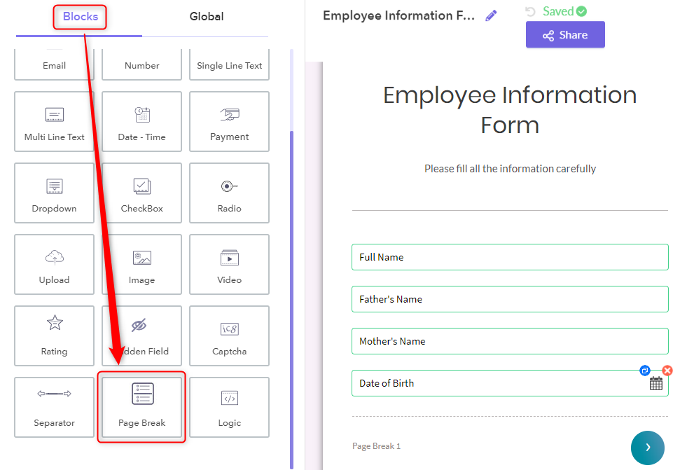 Add Save & Edit Later Functionality - Pabbly Form Builder