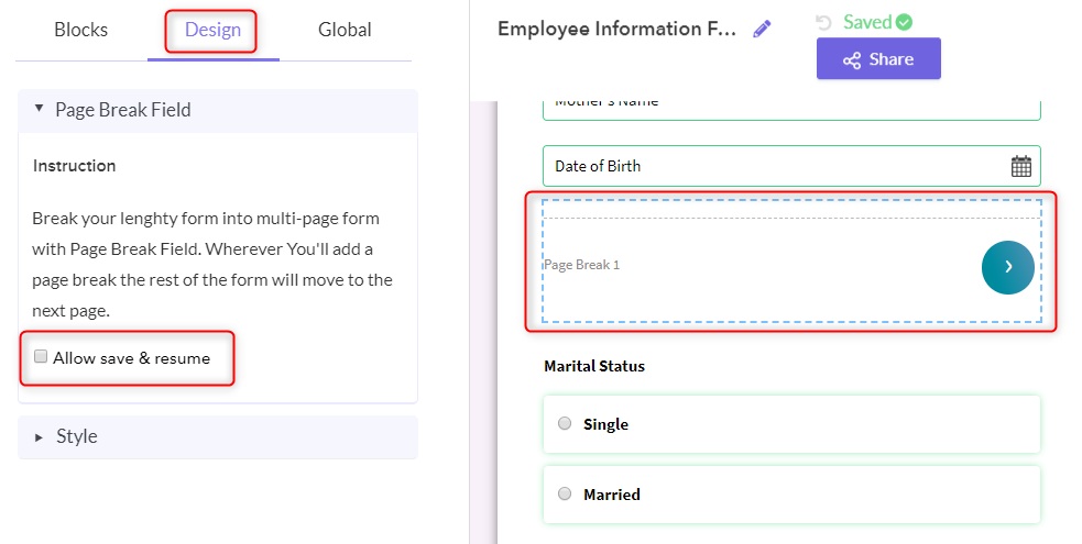 Enable The Settings - Pabbly Form Builder