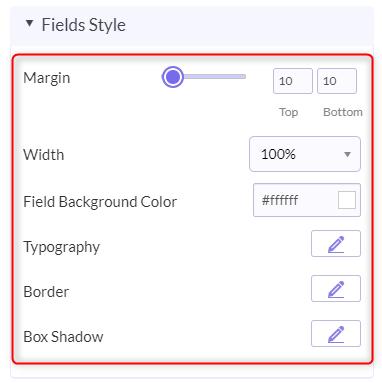 Fields Style Option - Pabbly Form Builder