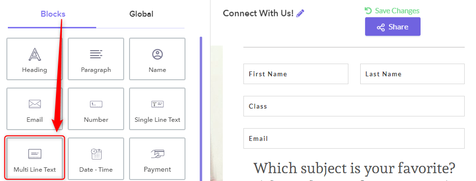 Multi-Line Text Field - Pabbly Form Builder
