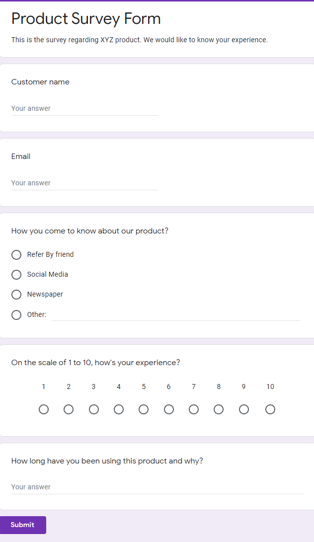 Preview - Google Forms