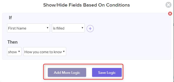 Logic Field - Pabbly Form Builder