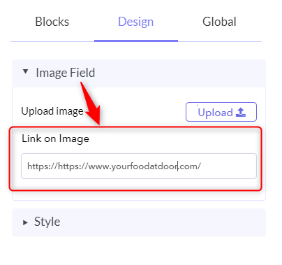 Attach Link To Image - Google Forms Hyperlink Text