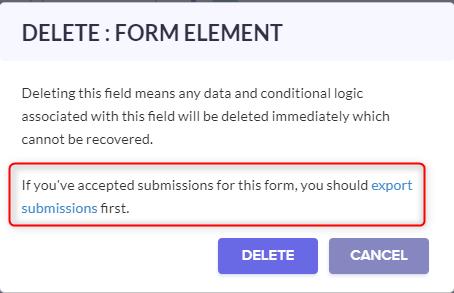 Delete Form Element Option - Pabbly Form Builder