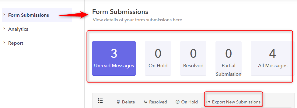 Form Submission Tab - Pabbly Form Builder