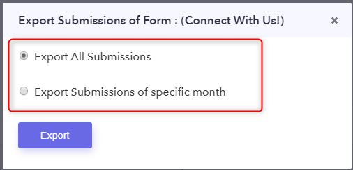 Export New Submission Option - Pabbly Form Builder