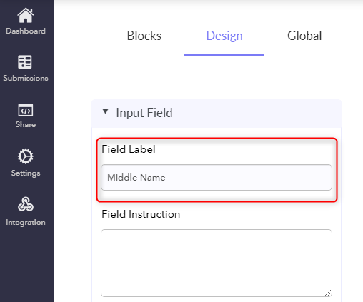 Add Text Field Side-By-Side - Pabbly Form Builder