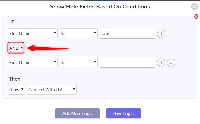 Use And Or Logic