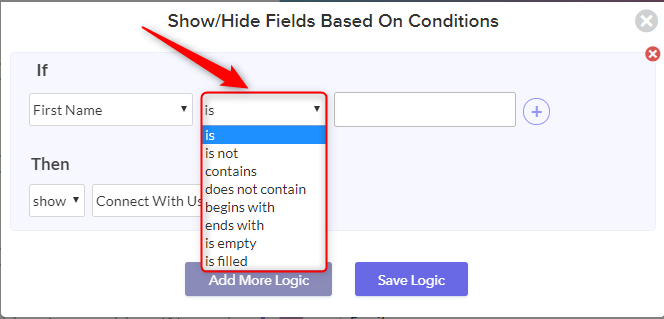 Choose If And Then Condition - Pabbly Form Builder