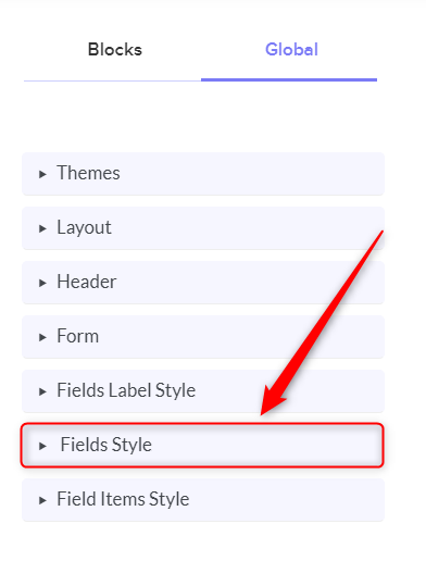 Select Fields Style - Pabbly Form Builder
